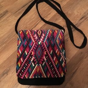 Fair trade crossbody purse